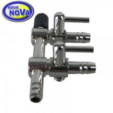 Кран для аэратора 4/6 мм. нерж. AquaNova ANV- 2 на два выхода
