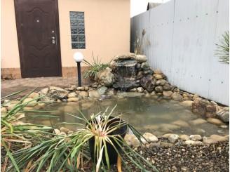 Садовый пруд с водопадом с. Хотяновка