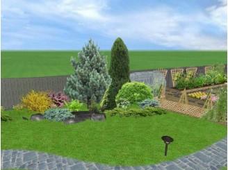 Комплексный проект ландшафта в Landscape Architect с. Думанци