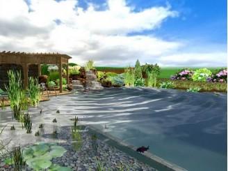 3D проект плавательного водоема г. Борисполь