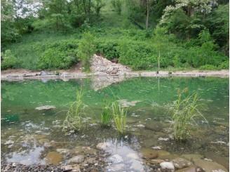 Искусственное озеро с водным каскадом с. Безрадичи