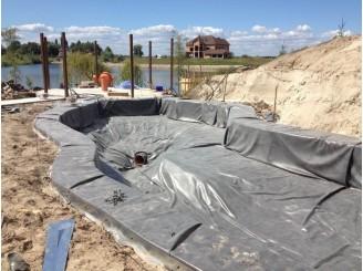 Работы по гидроизоляции бетонной чаши с. Новоселки