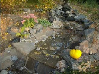 Декоративный пруд с водным каскадом с. Ирдынь