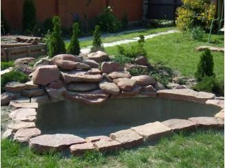 Декоративный водоем с бетонным каркасом г. Черкассы