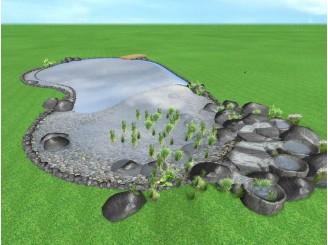 Визуальный проект плавательного пруда с. Гореничи