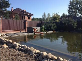 Искусственный пруд для рыбы и плавания с. Новоселки