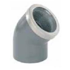 Колено 45° 20 мм х 1/2 резьба внутренняя с металлическим кольцом