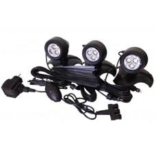 Светильник прудовый LED lamp set 3x3 с автоматическим датчиком включения