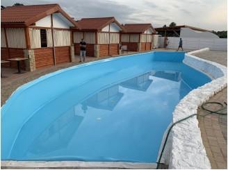 Изоляция бассейна ПВХ пленкой голубого цвета г. Винница