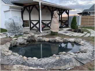 Недорогой водоем для дачного участка с маленьким водопадом с. Рославичи