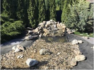 Создание небольшого декоративного водопада с широким ручьем с. Калиновка