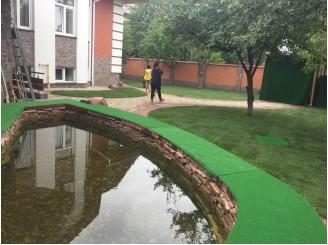 Установка дополнительного очистного оборудования на пруд с карпами КОИ г. Киев