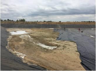 Изоляция ПВХ большого резервуара для орошения производственных полей г. Херсон