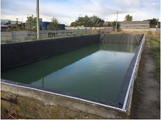Изоляция бетонной чаши пожарного резервуара бутилкаучуком г. Бровары