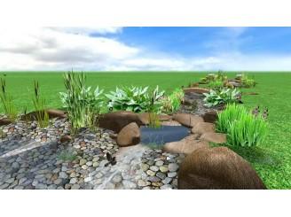 Эскизный проект плавательного озера с декоративным ручьем с. Гореничи