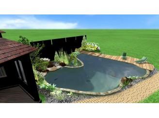 Визуализация ландшафтного биобассейна в Landscape Architect 3D с. Лесники