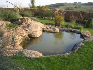 Садовый водоем интегрированный в окружающий этно-ландшафт с. Водяники